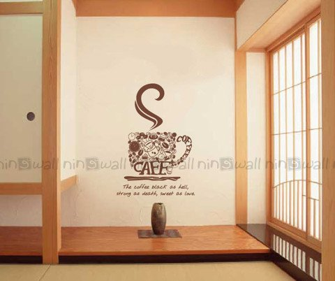 #DC004 The coffee Black - Decal dán tường - 1