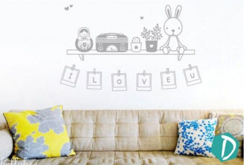 #FF011 Animal Photoframes - Decal dán tường - 1