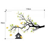 #NB034 Birds House Tree - Decal dán tường - 2
