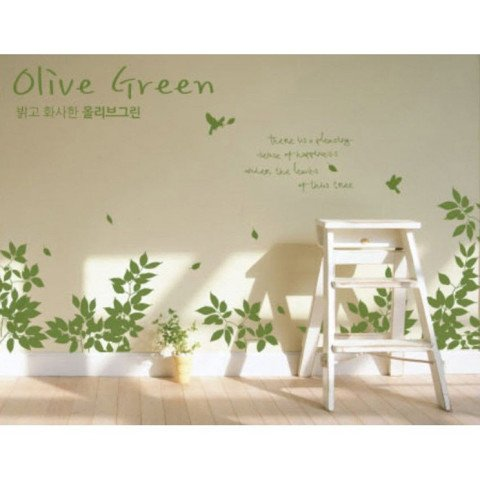 #NG027 Olive Green - Decal dán tường - 1