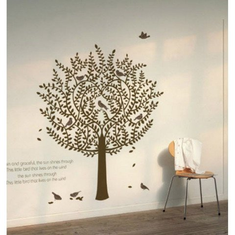 #NT003 Willow tree - Decal dán tường - 1