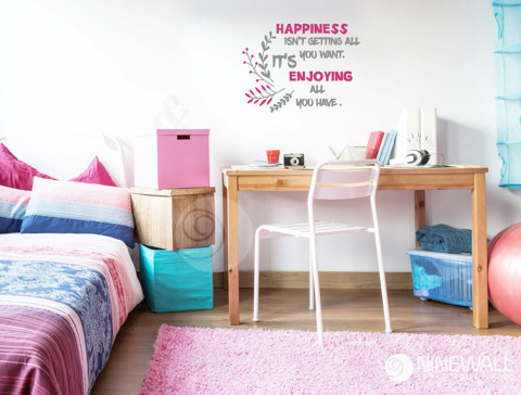 #TW042 Happiness - Decal dán tường - 1