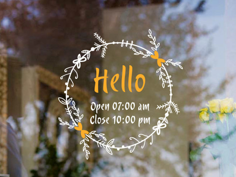 #TO017 Hello - Decal dán tường - 1