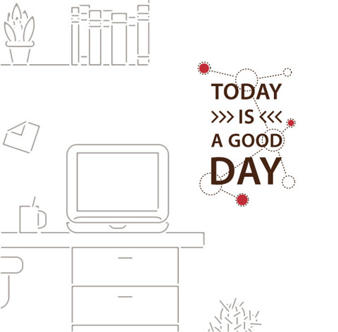 #TW045 Good Day - Decal dán tường - 1