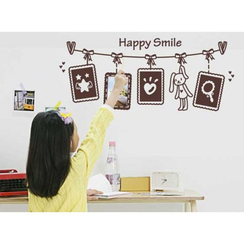 #FF027 Happy Smile - Decal dán tường - 1
