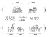 #FH015 Neighborhood around - Decal dán tường - 2