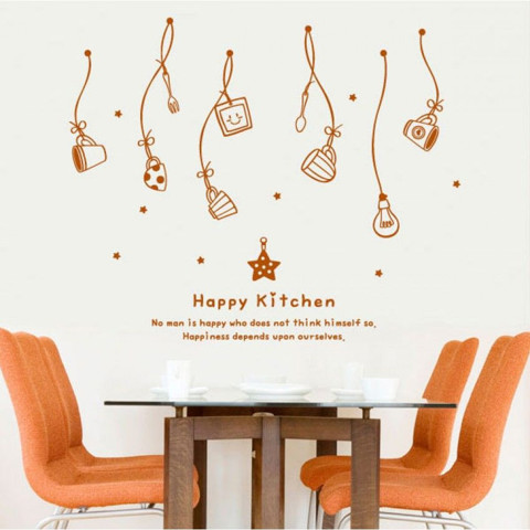 #DK026 Happy Kitchen - Decal dán tường - 1