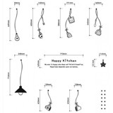 #DK026 Happy Kitchen - Decal dán tường - 2