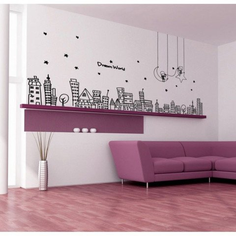 #FH017 Dream World - Decal dán tường - 1