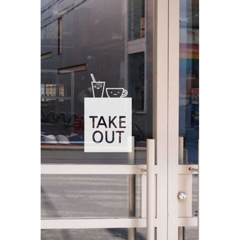 #TA003 Take out - Decal dán tường - 1