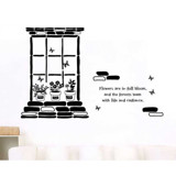 #DD010 Flowers in the window - Decal dán tường - 3
