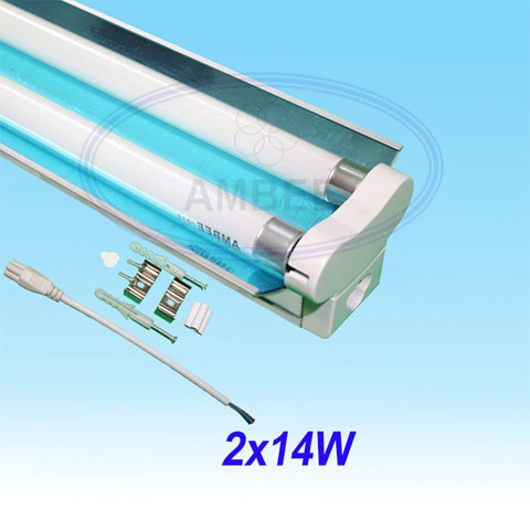 T5 Fluorescent Double Aluminum With Reflector 0.6M/2x14W