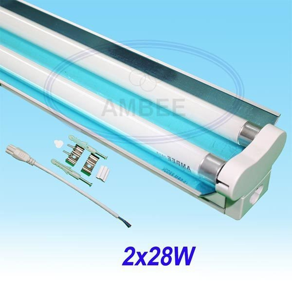 T5 Fluorescent Double Aluminum With Reflector 1.2M/2x28W