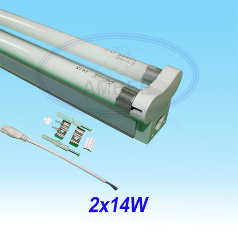T5 Fluorescent Double Aluminum Without Reflector 0.6M/14W