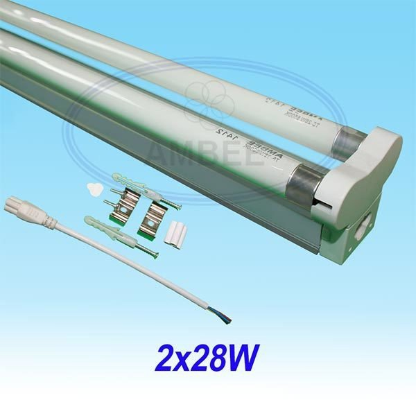 T5 Fluorescent Double Aluminum Without Reflector 1.2M/2x28W