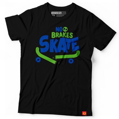 Skateboard - No brakes skate (text)