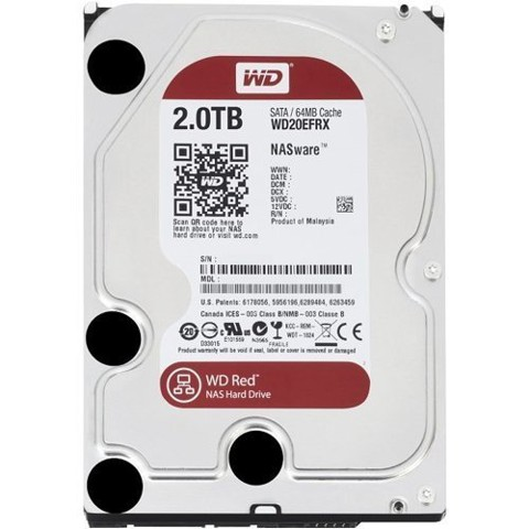 Ổ cứng HDD Western 2TB model WD20EFRX Red