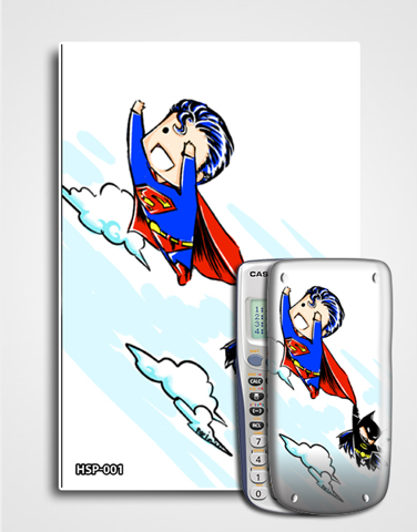 Decal máy tính Casio Super Man 001