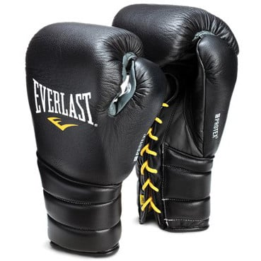 GĂNG TAY EVERLAST PROTEX3 PROFESSIONAL FIGHT BOXING GLOVES - BLACK