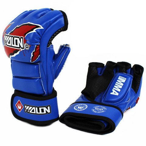 GĂNG TAY MMA GLOVES WOLON FIGHTER - BLUE