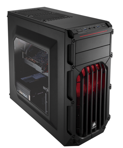 (Mid-Tower) Corsair Spec-03 Red Led Carbide Series