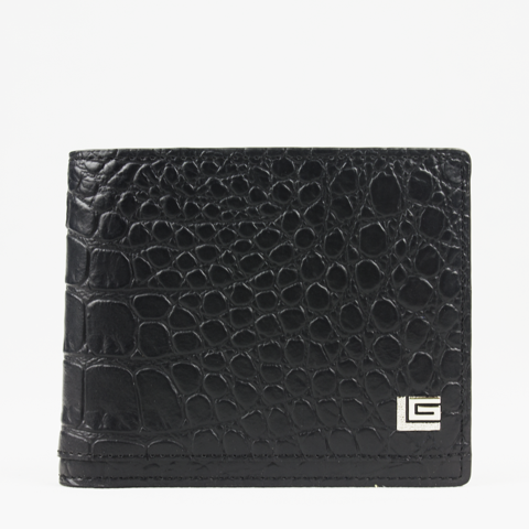 Wallet Crocodile Black