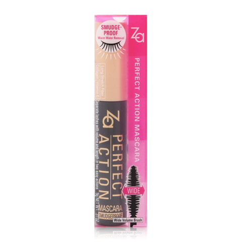 mascara za perfect action mascara smudgeproof bk999 3
