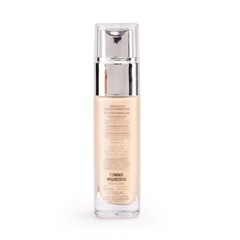 phan nen min da true match dang long liquid foundation F2 Rose Porcelain 2