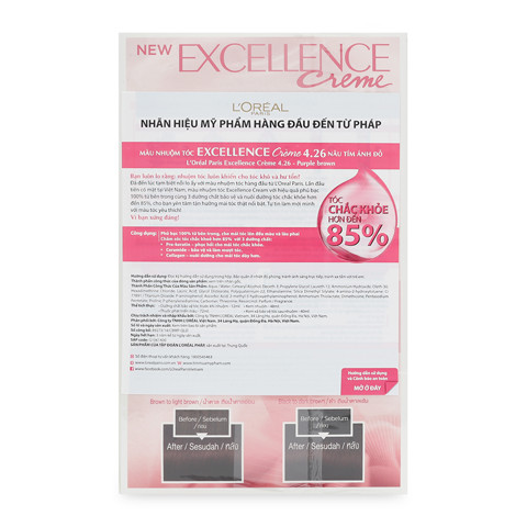 thuoc nhuom toc l oreal excellence creme 4 26 nau tim anh do 2
