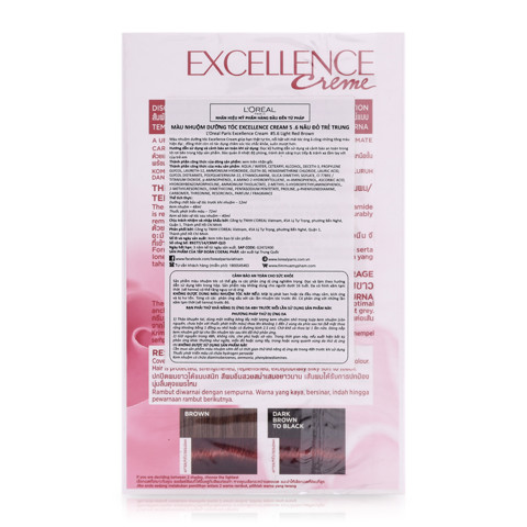 thuoc nhuom toc loreal excellence creme 5.6 nau do tre trung