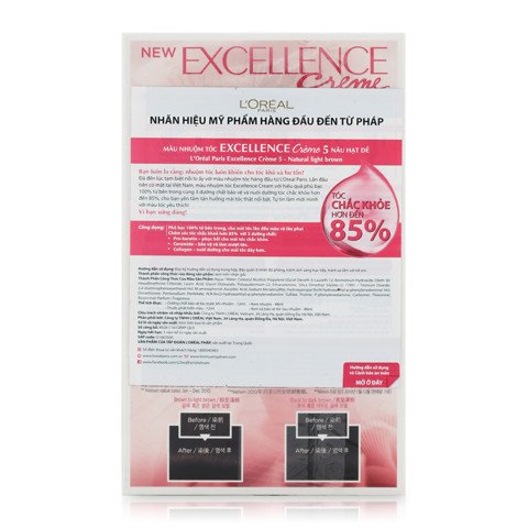 thuoc nhuom toc l oreal excellence creme 5 nau sang tu nhien 2