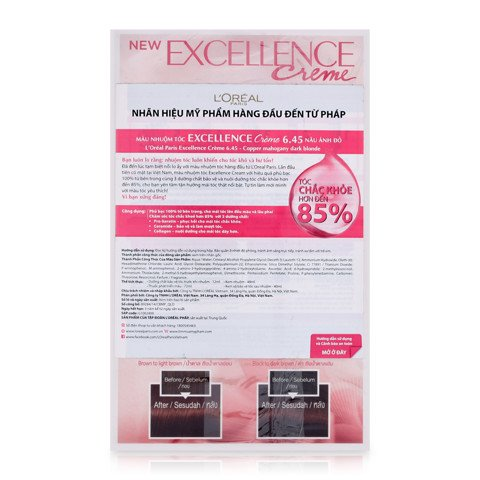 thuoc nhuom toc loreal excellence creme 6.45 nau anh do