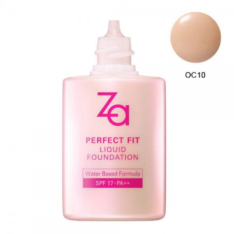 Phan nen dang long Za Perfect Fit Liquid Foundation OC10