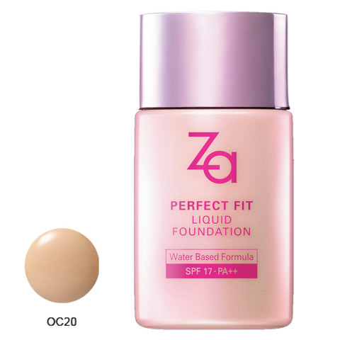 phan nen dang long za perfect fit liquid foundation oc20