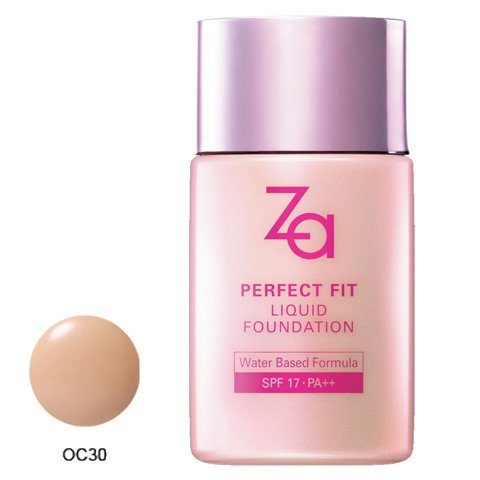 phan nen dang long za perfect fit liquid foundation oc30