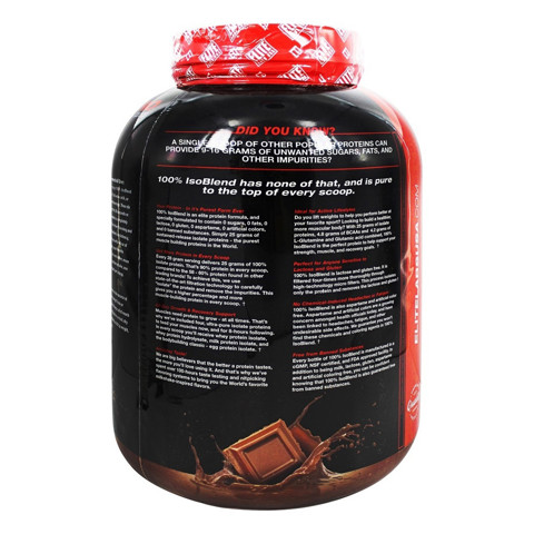 Elite Labs USA - 100% IsoBlend Protein Smooth Chocolate Cream - 4.02 lbs 03