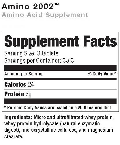 Amino 2002 Supplement