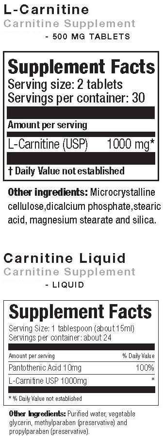 L Carnitine supplement