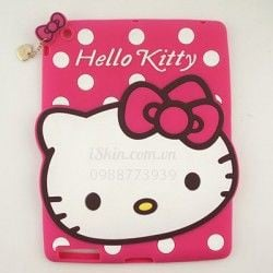 OL iPad Air Hello Kitty nơ Silicon dẻo nổi