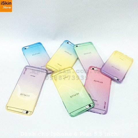 OL IP6+ KST Crystal Love - Ombre - TPU dẻo trong mỏng 0.4mm