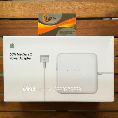 Adapter Sạc Macbook Pro Retina 60W Magsafe 2 Zin Foxconn (Full Box)