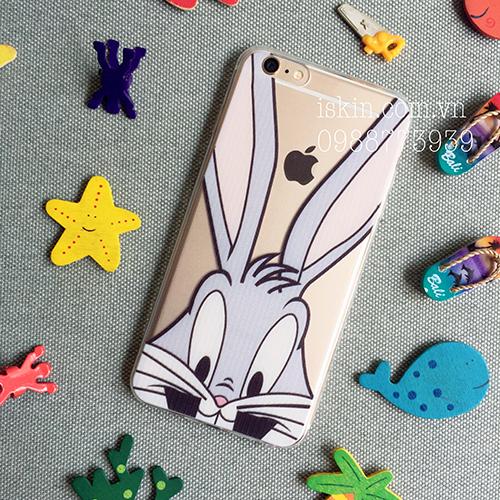 Ốp Lưng Iphone 6 6s Silicon Dẻo Trong Hình thỏ Hoạt hình dễ thương Giá Rẻ Đẹp Độc TpHcm