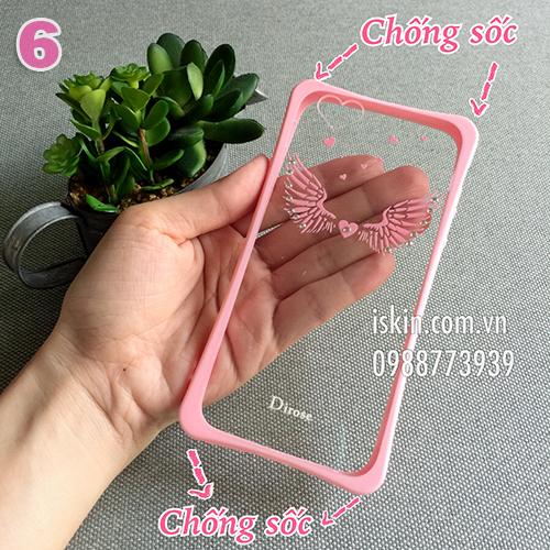 Ốp lưng Case Vỏ Iphone 6/6s Plus Đẹp DiRose Hoa văn lãng mạn, chống sốc  Giá rẻ TpHcm