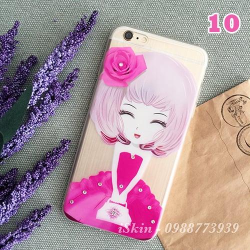 Ốp lưng Vỏ Case 5s Iphone 6/6s Plus Silicon dẻo trong ánh 7 màu, 8 hình dễ thương Giá Rẻ TpHcm