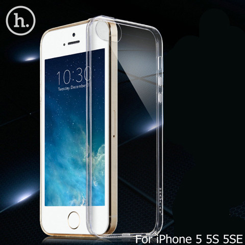 iPhone 5, 5S, SE - Ốp lưng dẻo trong suốt (Tốt) hiệu Hoco
