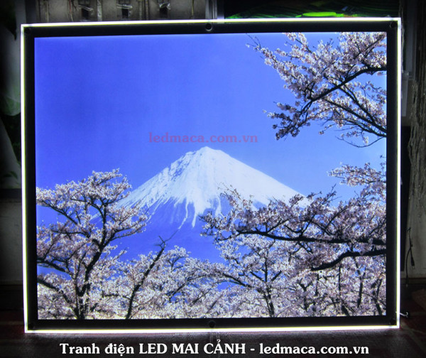 khung tranh led, khung ảnh led, khung mica led