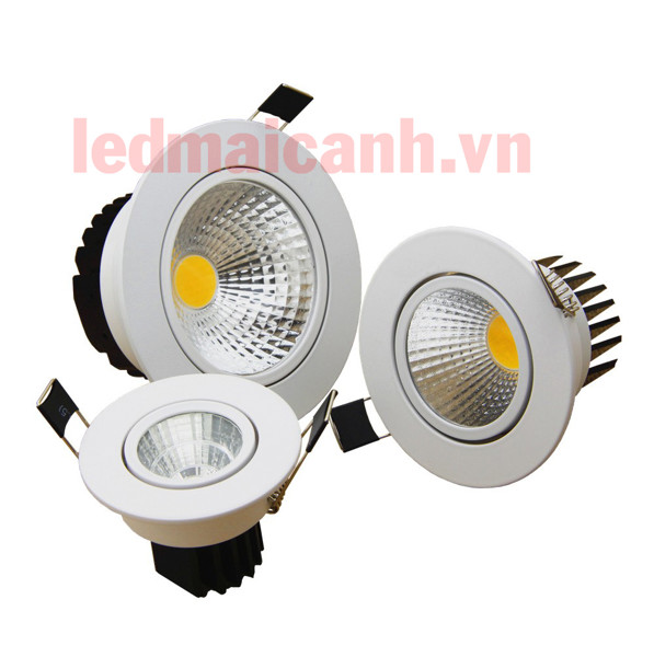 đèn âm trần cob, den led am tran cob, den am tran gia re, den led am tran gia re