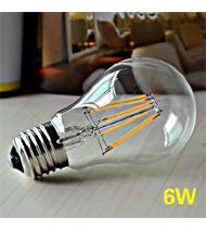 Bóng đèn LED tròn edison 6w - Fi 6cm, Dài 10cm