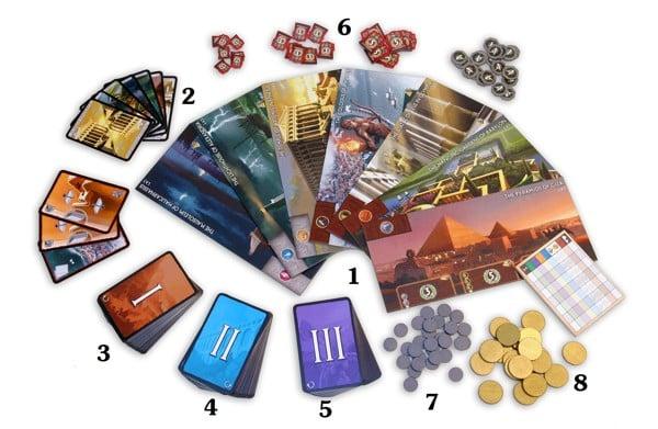 HƯỚNG DẪN LUẬT BOARD GAME 7 WONDERS – Thế Giới Board Game