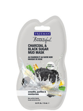 Túi mặt nạ Freeman Charcoal And Black Sugar Mud Mask